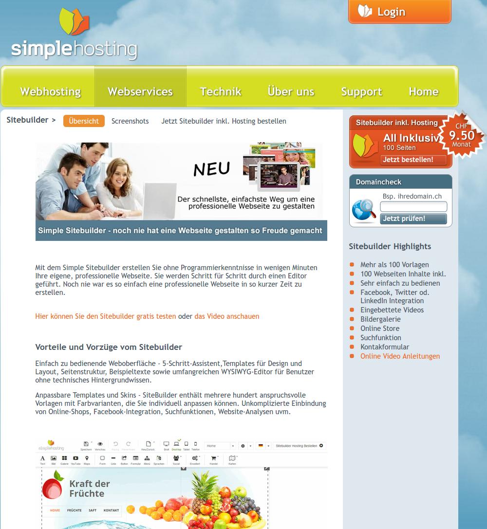 Unsere neue Website ist online!   Simplehosting