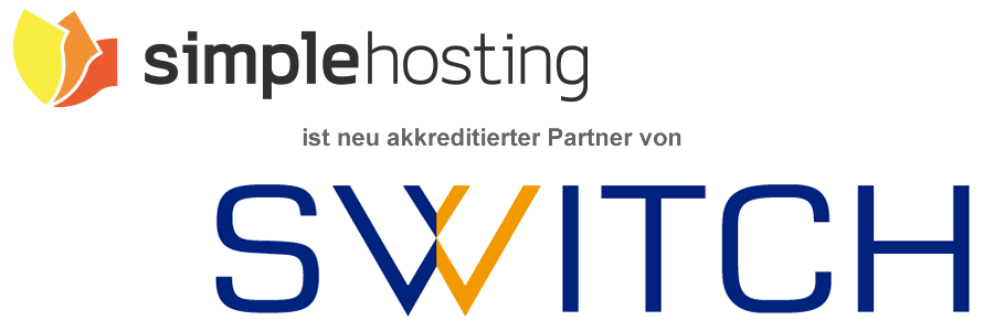 Simple Hosting GmbH offizieller Domain Registar bei SWITCH